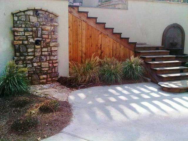 Stonescape Design with Outdoor Shower Atlanta