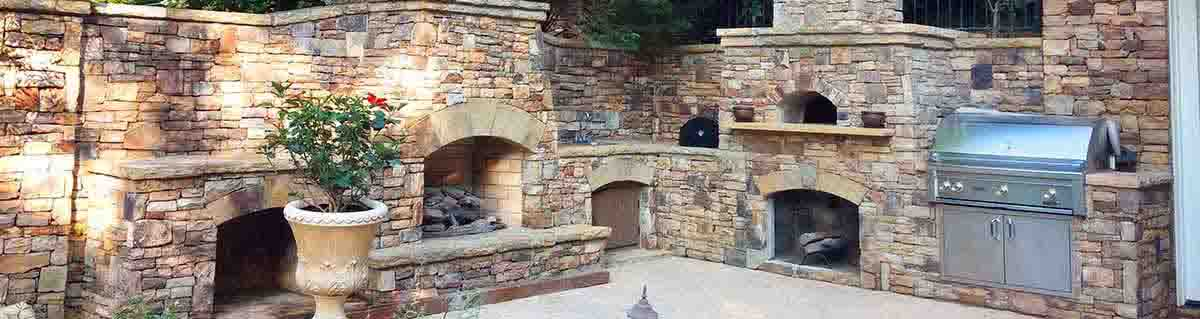 Custom Outdoor Kitchen Design in Natural Stone