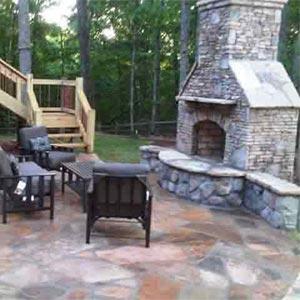 Atlanta Outdoor Fireplace Construction