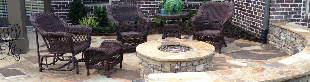 Custom stone fireplaces and firepits made of hand-selected natural stone, On-site project management. All work performed by highly skilled craftsmen