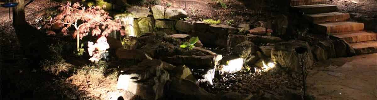Cascading Waterfalls and Streams, Top Quality Water Pumps and Filters, Underwater Lighting