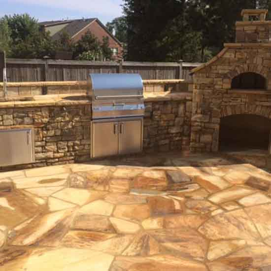 Outdoor Wood Fired Pizza Ovens in Residential Backyard Atlanta Georgia