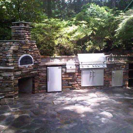 Designer Built Wood Fired Pizza Oven Fulton County Georgia